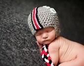 OHIO STATE Buckeyes Helmet Hat - Photo Prop - Size Newborn 0-3 month size