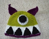 Scary Monster Lime Green Purple White - Size 4-10 years