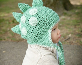 Dinosaur Dragon Hat - All Sizes Available - Green - All Sizes - Newborn to Adult
