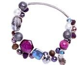 Magenta Bracelet Purple Pearl Adjustable