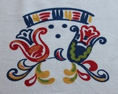 Lovely Vintage Floral Startex Tablecloth