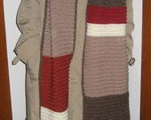 Dr. Who Keeps on Growing Longer and Longer Crocheted Acrylic Scarf I, perfect for playing the part of the man himself, great gift, wonderful for costume or keeping warm in the colder months of the year