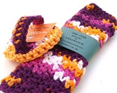 Dish Scrubbie and Dish Cloth set  - Sangria