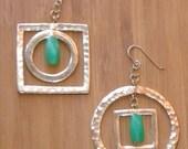 Silver andJade Earrings