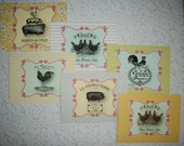COUNTRY FRENCH - Tuscan inspired -  Kitchen Wall Art - 12  Notecards with envelopes - PSS 2590