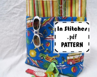 Reversible Bookbag Tote PDF pattern Tutorial EASY Instructions