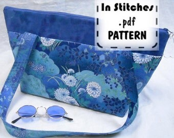 Zipper Shoulder PDF Purse Pattern-EASY Zippy Tote Tutorial-DIY Purse