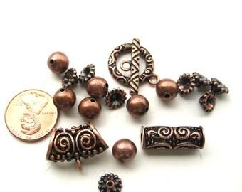 Antiqued Copper Findings Set, 18 pc, 1052-18