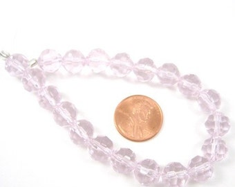 Soft Pink Glass 10mm Faceted Beads Set of 20, 1003-39