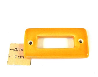 Yellow Ceramic 50mm x 30mm Connector, 1018-25-1