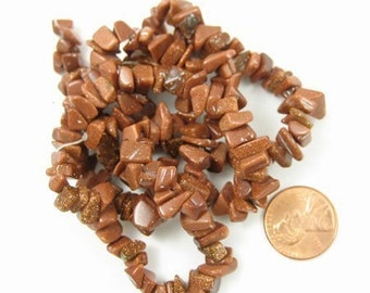 Goldstone Chips Beads,Sold per 24 inches strand, 1029-05