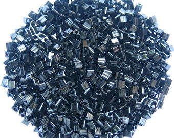 Black Triangle Japanese Seed Beads Size 11/0 (12 beads per 1 inch) Sold per 10 grams, 1002-11
