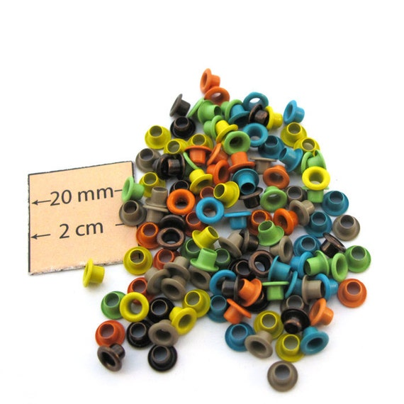 Earth Tone 6 colors 1/8 inch EYELETS, 20 pc of each Color, 120 pc Total, 1017-13
