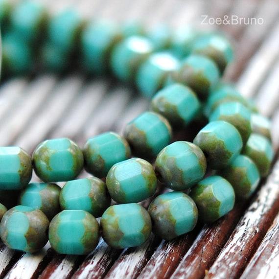 10 Forgotten Garden – Czech Glass Cathedral Beads by ZoeAndBruno