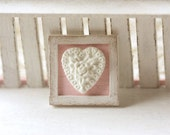 Dollhouse Accessories shabby chic framed applique decoration in 1/12th scale