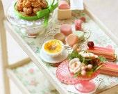 Dollhouse Miniatures - English Tea Cart- MADE TO ORDER - Free Shipping - For Lati Yellow or Pukifee
