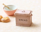 Dollhouse Accessories- Shabby and Chic Pale Pink Bread Box