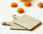 Dollhouse Miniature Antique Bread Cutting Boards - Suitable for Lati Yellow or Pukifee