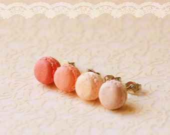 Food Earrings - Macaron Earrings in Dusty Pink Series - Valentines Day Gift Guide
