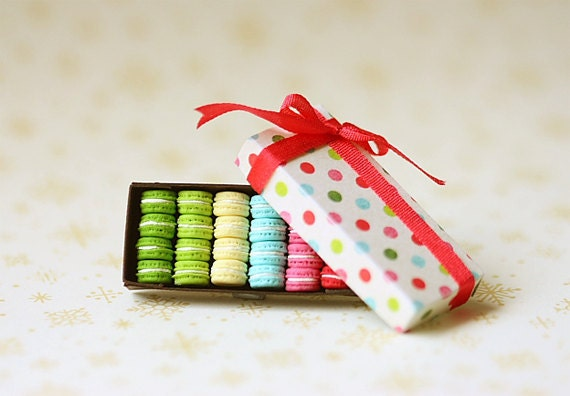 Dollhouse Miniature Food - French Macarons - Gifts for Her