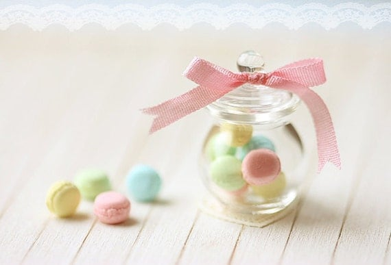 Dollhouse Miniature Food - Pastel French Macarons