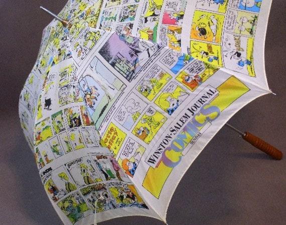 vintage winston salem journal nc comic news paper fabric