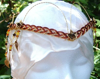 Autumn Elven Wedding Headdress The Galadriel