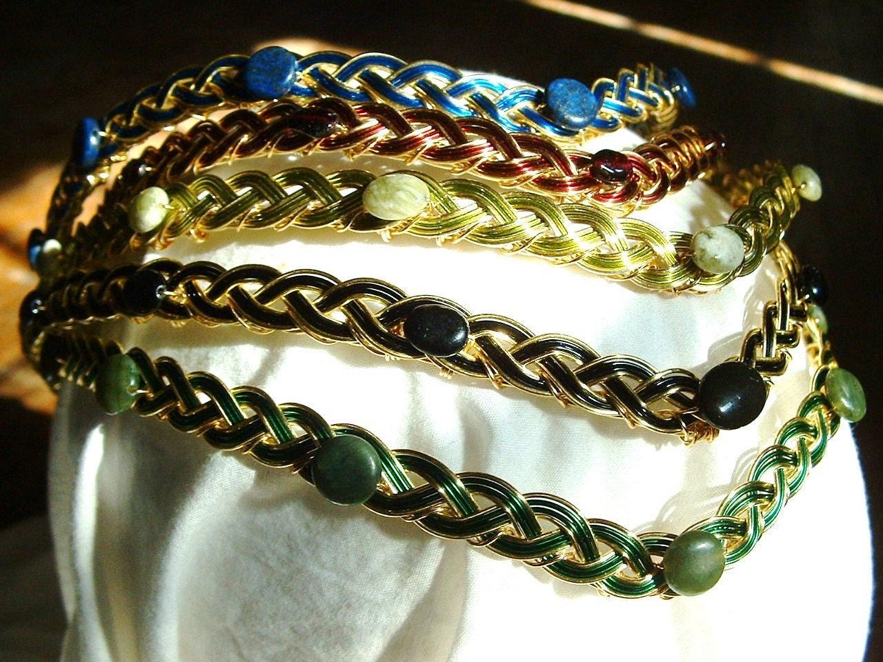 celtic gemstone circlet the rowena by perncirclets