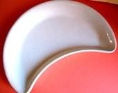 Vintage Ceramic Half Moon Candy Dish 1950s