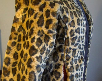 Vintage SIxties Leopard Fur Jacket - small