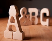 SPECIAL ORDER for Shawnar Wood Teether ABC alphabet letterpress wooden toy natural baby toy photo prop