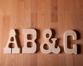 Wood Teether ABC alphabet letterpress wooden toy natural baby toy photo prop