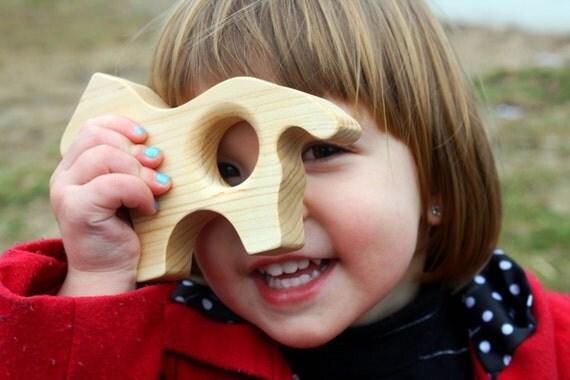 WOOD Hank Horse TEETHER Free Play Block Ohio Maple Wooden Teething Toy