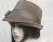 Fedora Hat - Wool 1940s Classic Beige Vintage Style