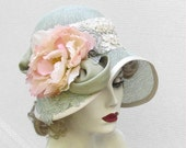 Wide Brimmed Hat for Summer Garden or Tea Party