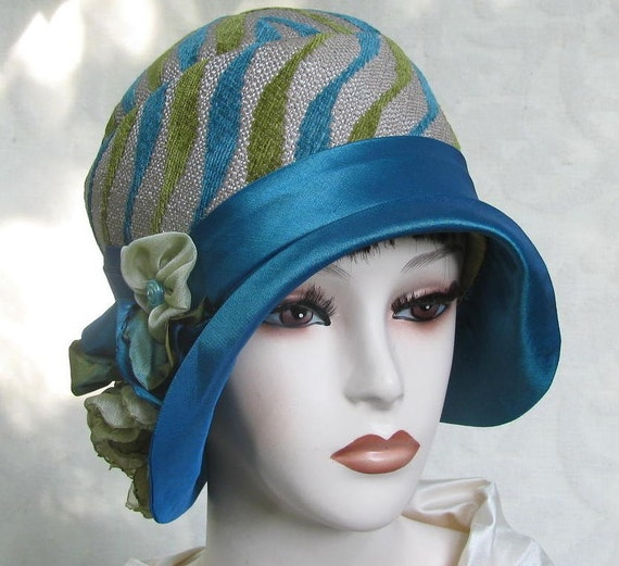 Womens Tailored Hat in Classic 1920s Art Deco