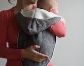 Modern Baby Gift Blanket - Organic Newborn Noonie- Cocoa Swirls- Earth day