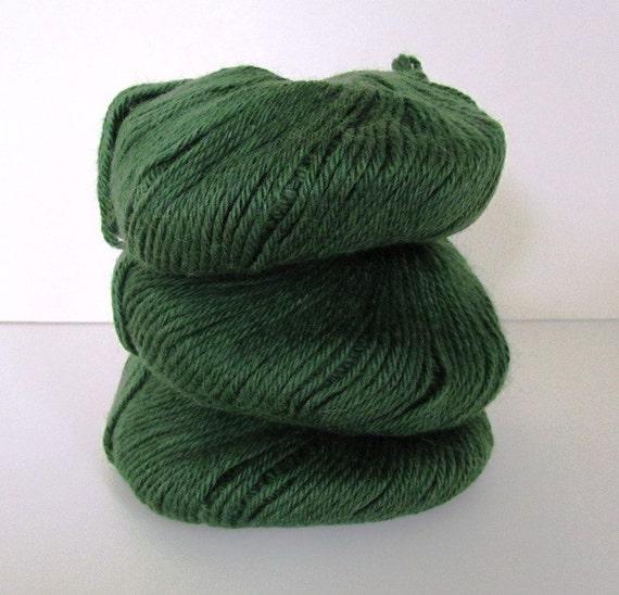 Green Yarn  3 Balls Baby Alpaca DK Wool Plymouth Yarn  Olive Green Plymouth Yarn Luxury Brand