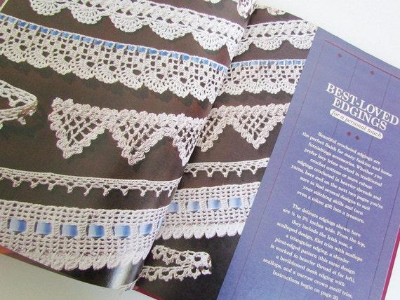 Vintage Crochet Book Better Homes and Gardens Forever Favorite Crochet Pattern Book  Lace Trim 1984 Hardcover Crochet Pillows Afgans