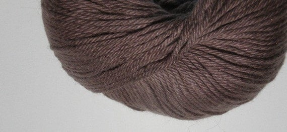 Brown Cotton Yarn 4 Balls Baby Bunny Yarn Cotton Modal Angora All Natural Eco-Friendly Brown color 1786
