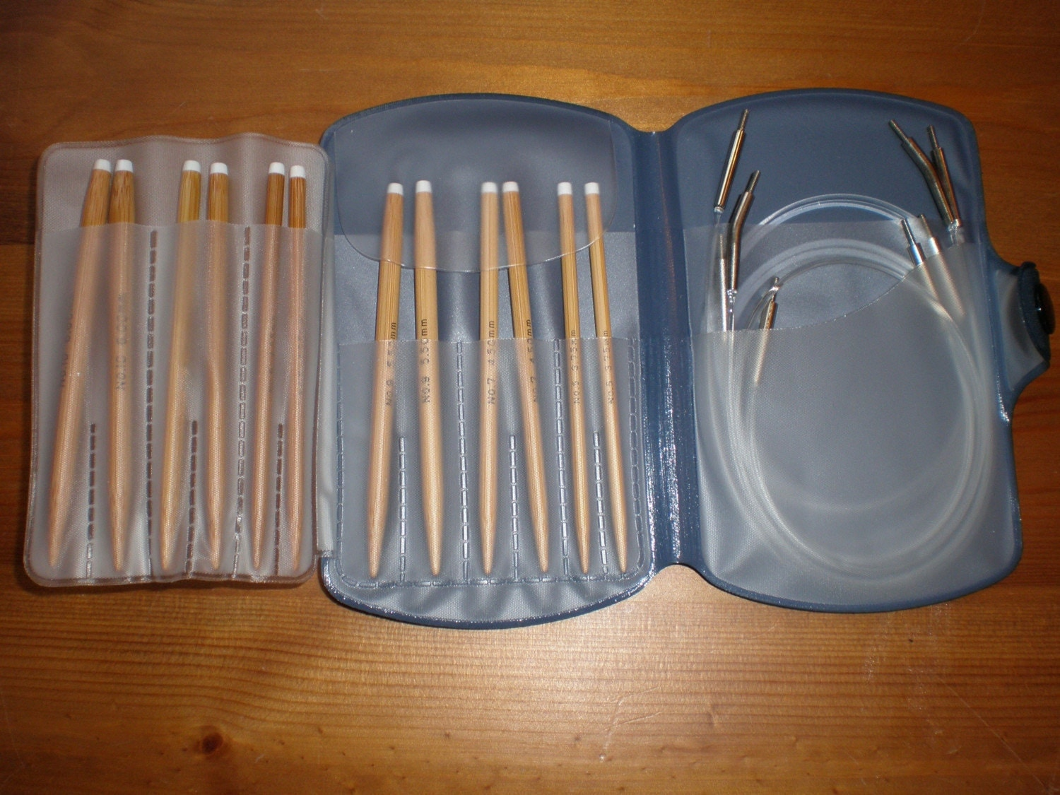 Bamboo Interchangeable Circular Knitting Needle Set New By