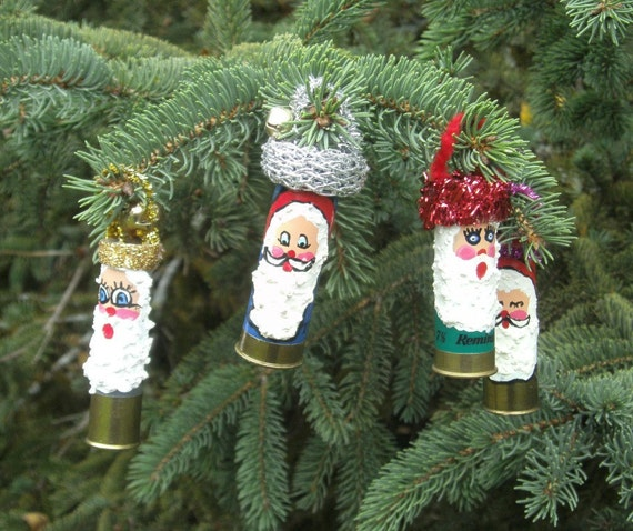Shotgun Shell Ornaments Santa Ornaments Set of 4   No.6