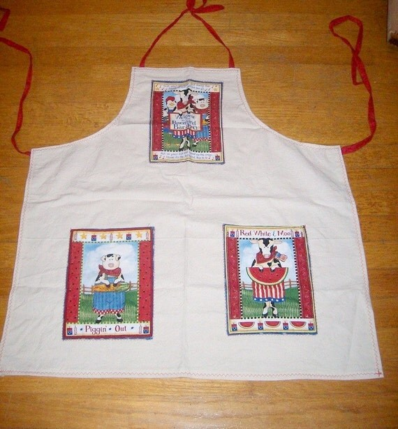 Apron - Farm Animals Apron - Fun Farm Themed Apron - Animal Farm ...