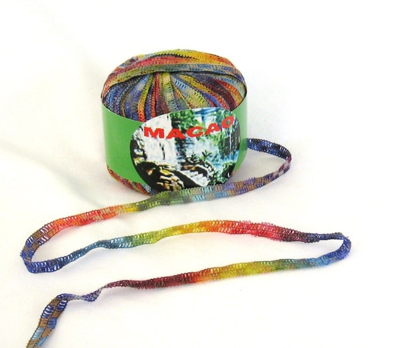 Novelty Yarn : Macao 518 Knitting Fever Ribbon Novelty Yarn by ThreadsintheBed