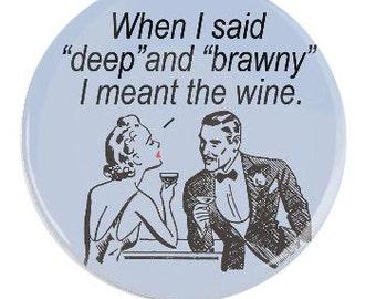 Funny Gift Funny Wine Lover Retro Fridge Magnet-Gift for Wine Fans
