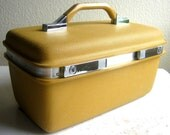 Vintage Mustard Samsonite Train Case