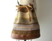 vintage bucket bag / tribal kilim ethnic / cross body