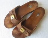 vintage sandals / dr scholls clogs  / 7 7.5