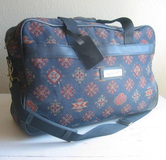Vintage DVF Tapestry Duffel Bag