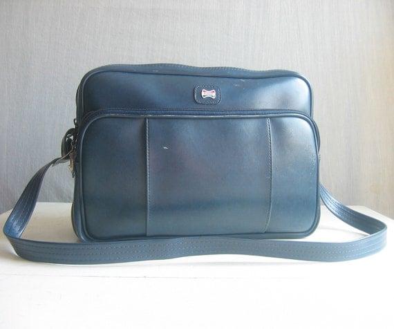 vintage tote bag / american tourister / blue